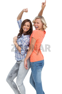 Two women having fun