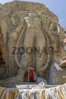 Chamba Statue bei Mulbekh, Ladakh, Nordindien