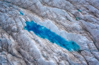 Greenland Ilulissat glaciers with blue eyes pool