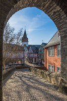 Historische Altstadt von Idstein im Taunus, Hessen, Deutschland