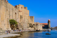 Château Royal de Collioure, a French royal castle in the town of Collioure, France