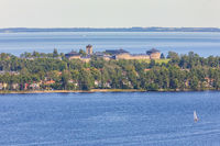 View at Karlsborg's fortress in Sweden