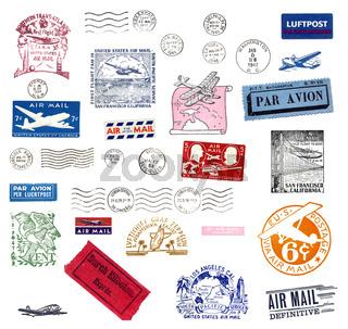 Alte Poststempel