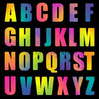 Alphabet With Black Background