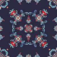 Rosemaling vector pattern 52