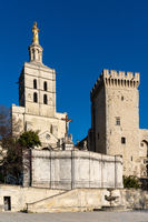 A view of the historic Palais du Pape in Avignon