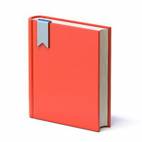 Red book with bookmark ribbon 3D