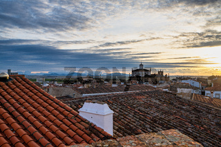 Medieval town of Trujillo at sunset, Extremadura, Spain