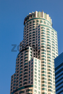 LOS ANGELES, CALIFORNIA, USA - JULY 28 : Skyscraper in the Financial district of Los Angeles California on July 28, 2011