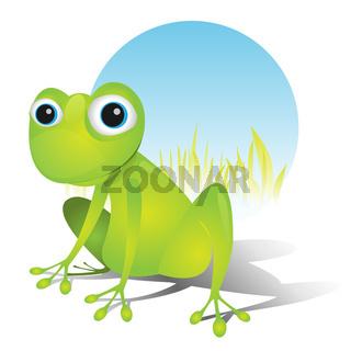 Simple Cute Frog