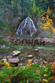 Fan Falls - Jasper National Park