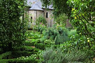 Klostergarten, Prieuré de Saint-Cosme, La Riche, Centre, Frankreich