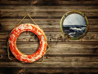 lifebuoy and porthole