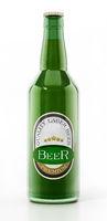 Generic beer bottle isolated on white background. 3D illustration