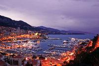 Monaco Harbor at Twilight