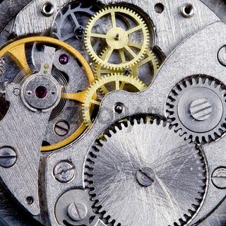 Part of clockwork with gears