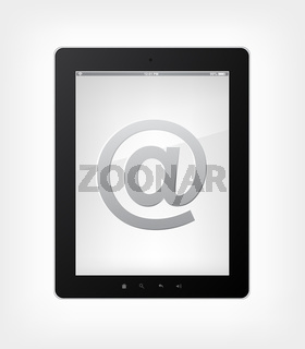 Email Concept. Tablet PC