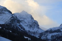 Arpelistock, mountain seen from Gsteig bei Gstaad, Switzerland.