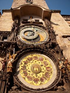 Town hall clock, Prague, Czech Republic