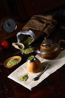 Prepare yerba mate with calabash and bombilla