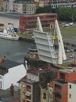 Klappbrücke in Antwerpen