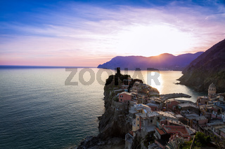 Vernazza before sunset, Cinque Terre, Italy