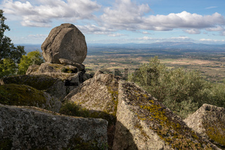 Monsanto landscape view with boulders, in Portugal