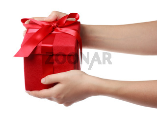 Red Holiday Gift Box