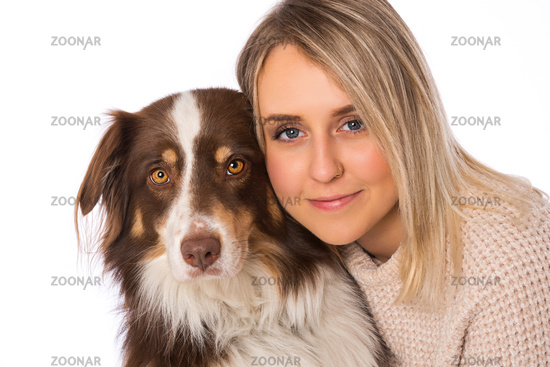 Young woman with dog