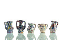 Pottery vases isolated
