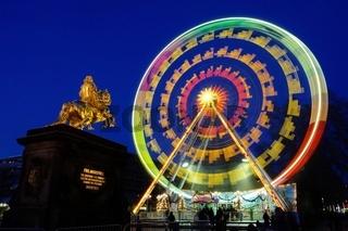 Dresden Weihnachtsmarkt Riesenrad - Dresden christmas market ferris wheel 01