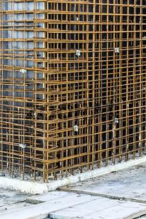 Rohbau Konzept - Rostige Baustahlmatten