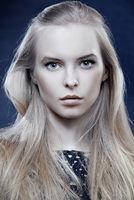 closeup of beautiful blonde woman