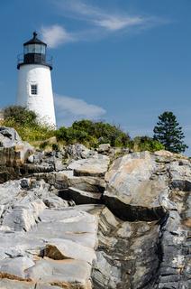 Pemaquid Point Leuchtturm, Bristol, Lincoln County, Maine, New England, USA, Nordamerika