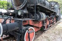 Old abandoned locomotive engine