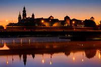 Wawel Castle in Krakow at Dawn