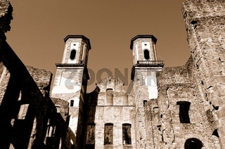 Ruine   Kloster Bad Frauenalb  sepia