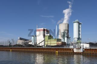 Trianel Kohlekraftwerk am Datteln-Hamm-Kanal, Luenen, Ruhrgebiet, Nordrhein-Wes