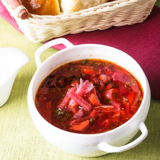 Russian cuisine - borsch