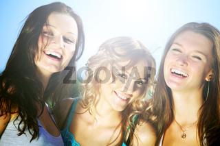 Success joy of girlfriends enjoyment