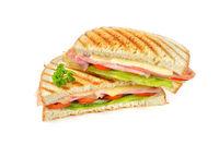 Schinken-Käse-Sandwich aus dem Grill