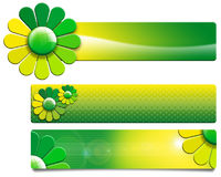 Green Flowers Banners