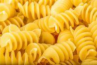 Spiral pasta close up