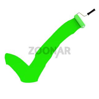 Green Paint Tick