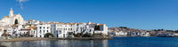 panorama view of the idyllic seaside village of Cadaques in Catalonia