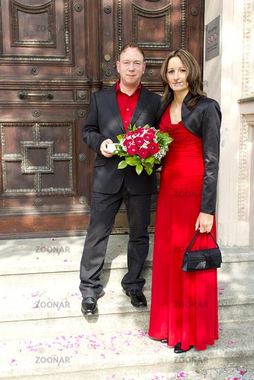Hochzeit in rot