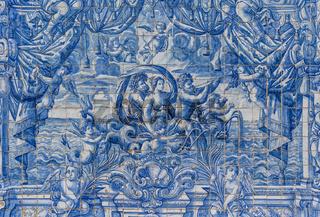 Ceramic Azulejos in Porto cathedral - Portugal