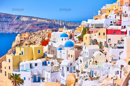 Oia town in Santorini island in Greece