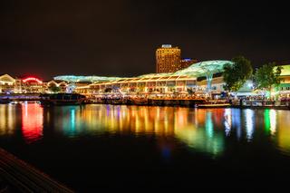 Clarke Quay in Singapore at Night