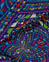 Hungarian embroidery background 1
